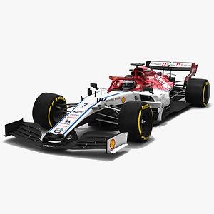 Alfa Romeo Sauber Racing F1 C38 Formula 1 Season 2019 Low-poly 3D model