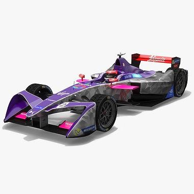 DS Virgin Racing Formula E Season 2017 2018 3D model