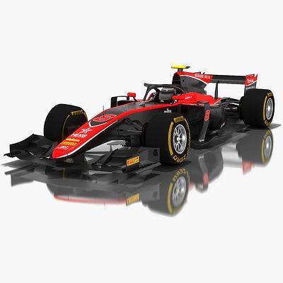 ART Grand Prix Formula 2 Season 2018 3D model