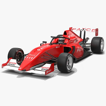 Australian S5000 Championship Race Car Team BRM Low-poly PBR 3D model