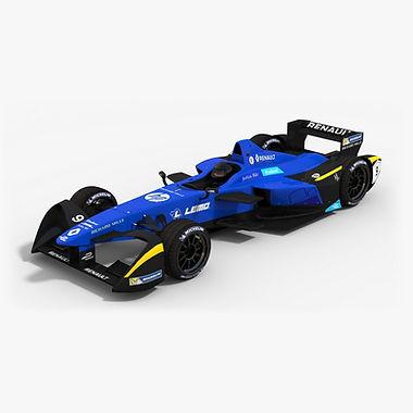 Renault E.Dams Formula E TeamSeason 2016 2017 3D model