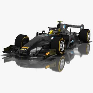 Formula 2 Dallara F2 2018 Season 2018 Low-poly PBR 3D model
