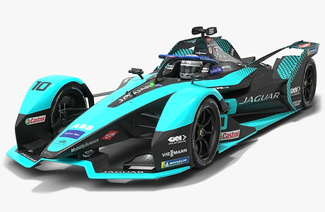 Jaguar Racing I-Type 5 Formula E Team Season 2020 2021 Race Car Low-poly PBR 3D model