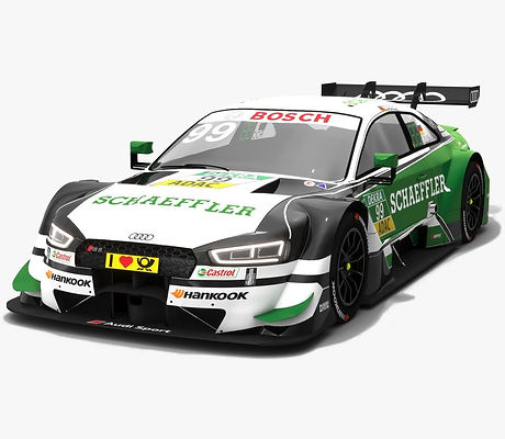Audi RS5 DTM #99 Mike Rockenfeller Season 2018 3D model