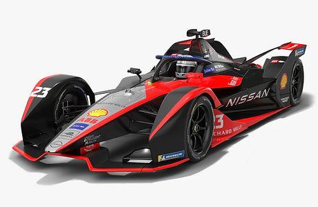 Nissan e.dams Formula E Season 2020 2021 Race Car Low-poly PBR 3D model