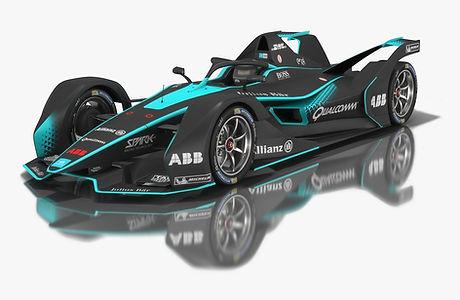 Gen2 Formula E Race Car Season 2018 2019 3D model
