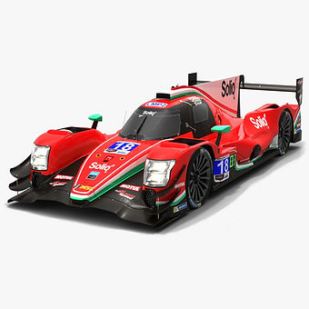 DragonSpeed #18 Oreca 07 IMSA WeatherTech 2019 Low-poly 3D model