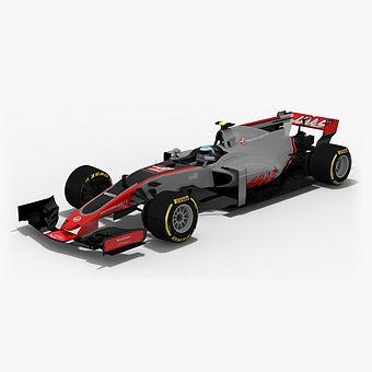 Haas VF-17 Formula 1 Season 2017 3D model