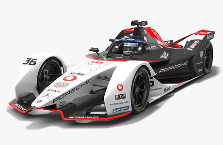 TAG Heuer Porsche Formula E Team Season 2020 2021 Low-poly PBR 3D model
