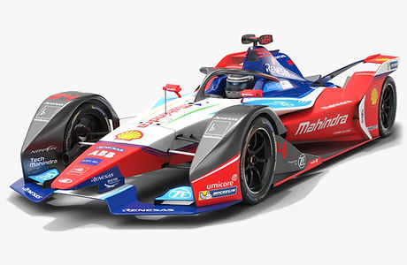 Mahindra Racing Formula E Season 2019 2020 Low-poly PBR 3D model