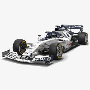 Scuderia AlphaTauri F1 AT01 Formula 1 Season 2020 Low-poly PBR  3D model