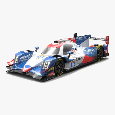 Vaillante Rebellion LMP2 WEC Season 2017 3D model