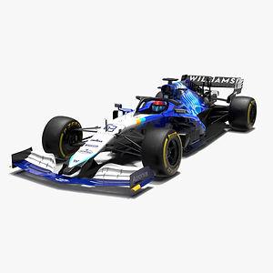 Williams F1 Racing FW43B 2021 Formula 1 race car Low-poly PBR  3D model