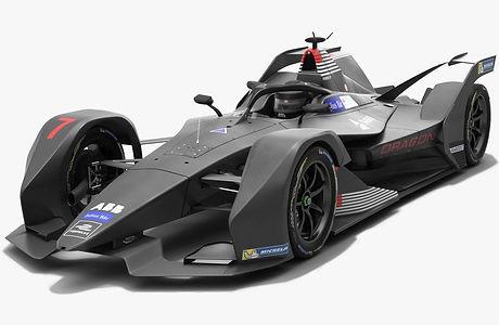 Dragon Racing Formula E Season 2018 2019 3D model