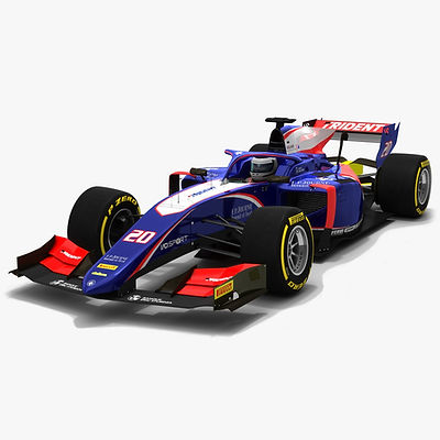 Trident F2 #20 Formula 2 Season 2019 Low-poly 3D model
