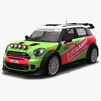 Eurolamp MINI WRC Team Ukraine Low-poly 3D model