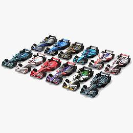Formula E Season 2017 2018 3D model