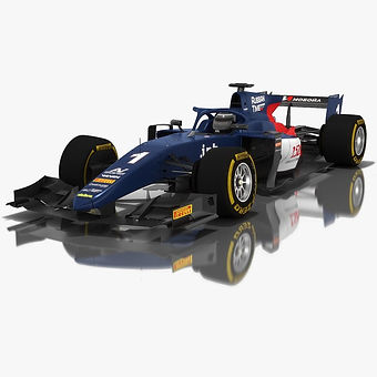 Russian Time Formula 2 Season 2018 3D model