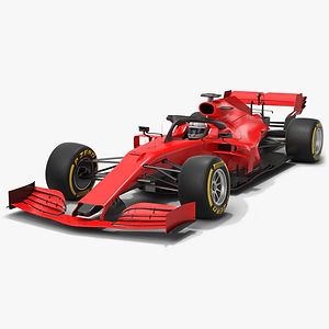 Formula 1 Season 2020 F1 Race Car Low-poly PBR  3D model