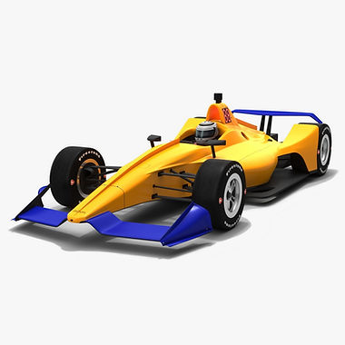 Dallara DW12 2019 Speedway Race Car Low-poly 3D model
