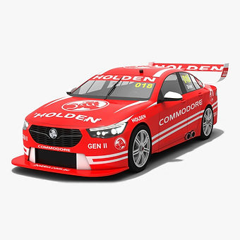 Generic Holden ZB Commodore V8 Supercars Season 2018 Low-poly 3D model