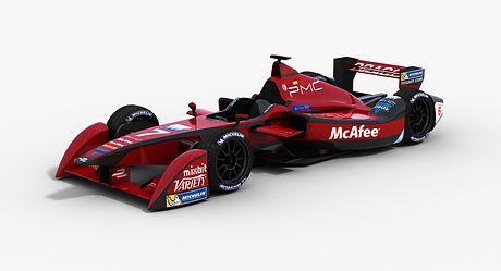 Dragon Racing Formula E Season 2015 2016 3D model