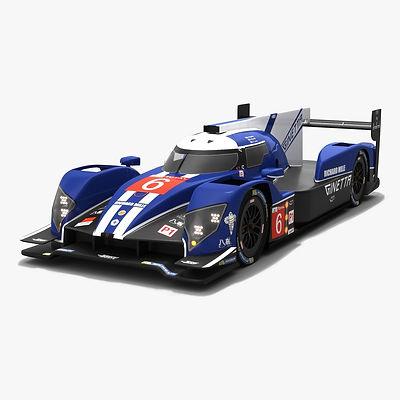 CEFC TRSM Racing Ginetta G60-LT-P1 LMP1 WEC Season 2018 2019 3D model