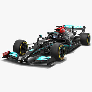 Mercedes F1 W12 2021 Formula 1 race car Low-poly PBR 3D model