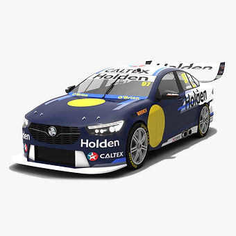 Holden ZB Commodore V8 Supercars Season 2018 Low-poly 3D model