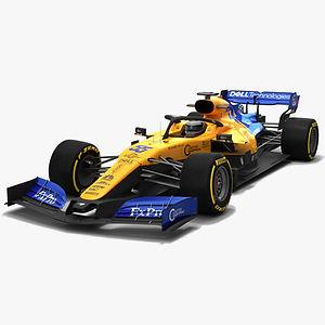 McLaren F1 MCL34 Formula 1 Season 2019 Low-poly 3D model