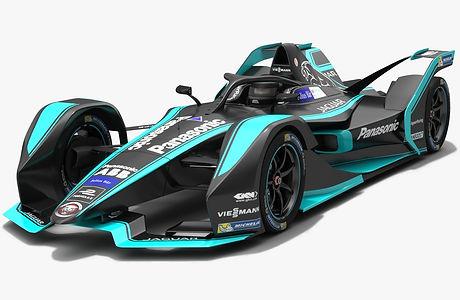 Gen2 Panasonic Jaguar Racing Formula E Preseason view 2018 2019 3D model