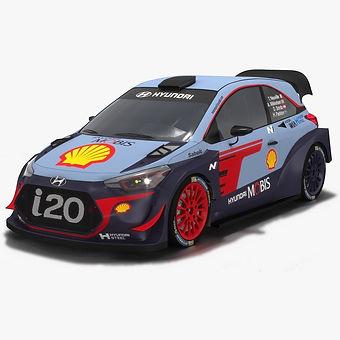 Hyundai i20 WRC Season 2018 Low-poly PBR 3D model