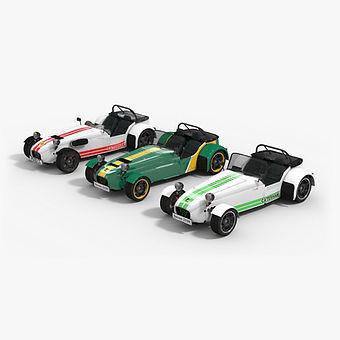 Car low-poly PBR 3D models