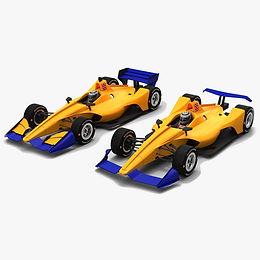 American Open Wheel Race Car Low-poly PBR 3D models