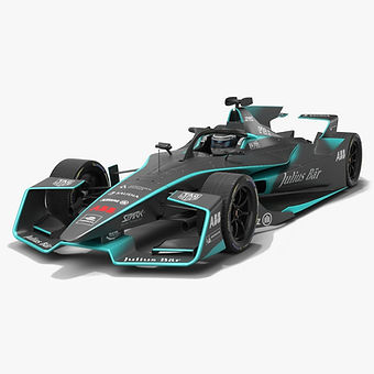 Formula E Season 2020 2021 Low-poly PBR 3D model