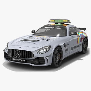 Mercedes AMG GTR FIA F1 Safety Car Season 2020 Low-poly PBR  3D model