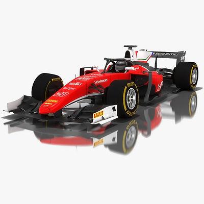 Charouz Racing System Formula 2 Season 2018 3D model