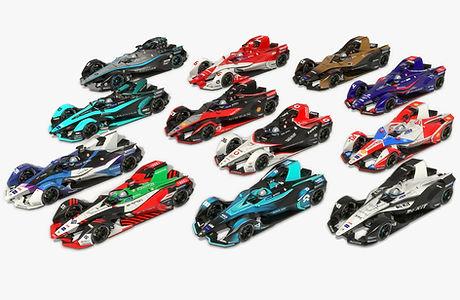 Formula E Season 2020 2021 Race Car Collection Low-poly PBR 3D model