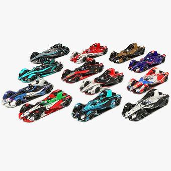 Formula E Season 2020 2021 Low-poly PBR 3D model