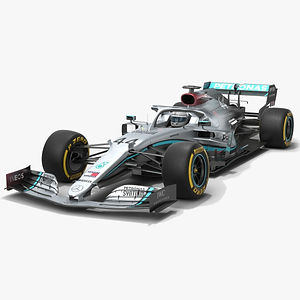 Mercedes F1 W11 Formula 1 Season 2020 Low-poly PBR  3D model