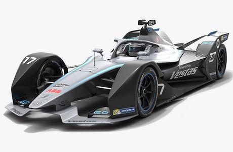 Mercedes-Benz Formula E Season 2019 2020 Low-poly PBR 3D model