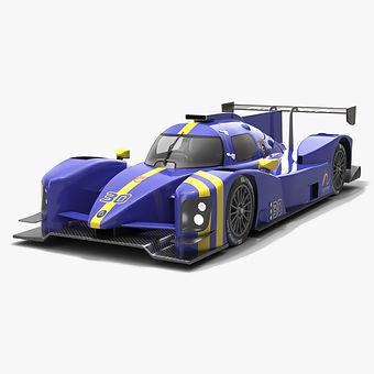 Norma M30 IMSA Prototype Challenge Season 2019 Low-poly 3D model