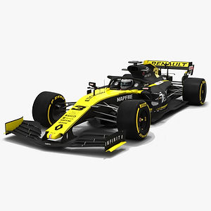 Renault F1 R.S.19 Formula 1 Season 2019 Low-poly 3D model