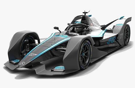 Mercedes Formula E Season 2019 2020 Livery Concept Low-poly PBR 3D model