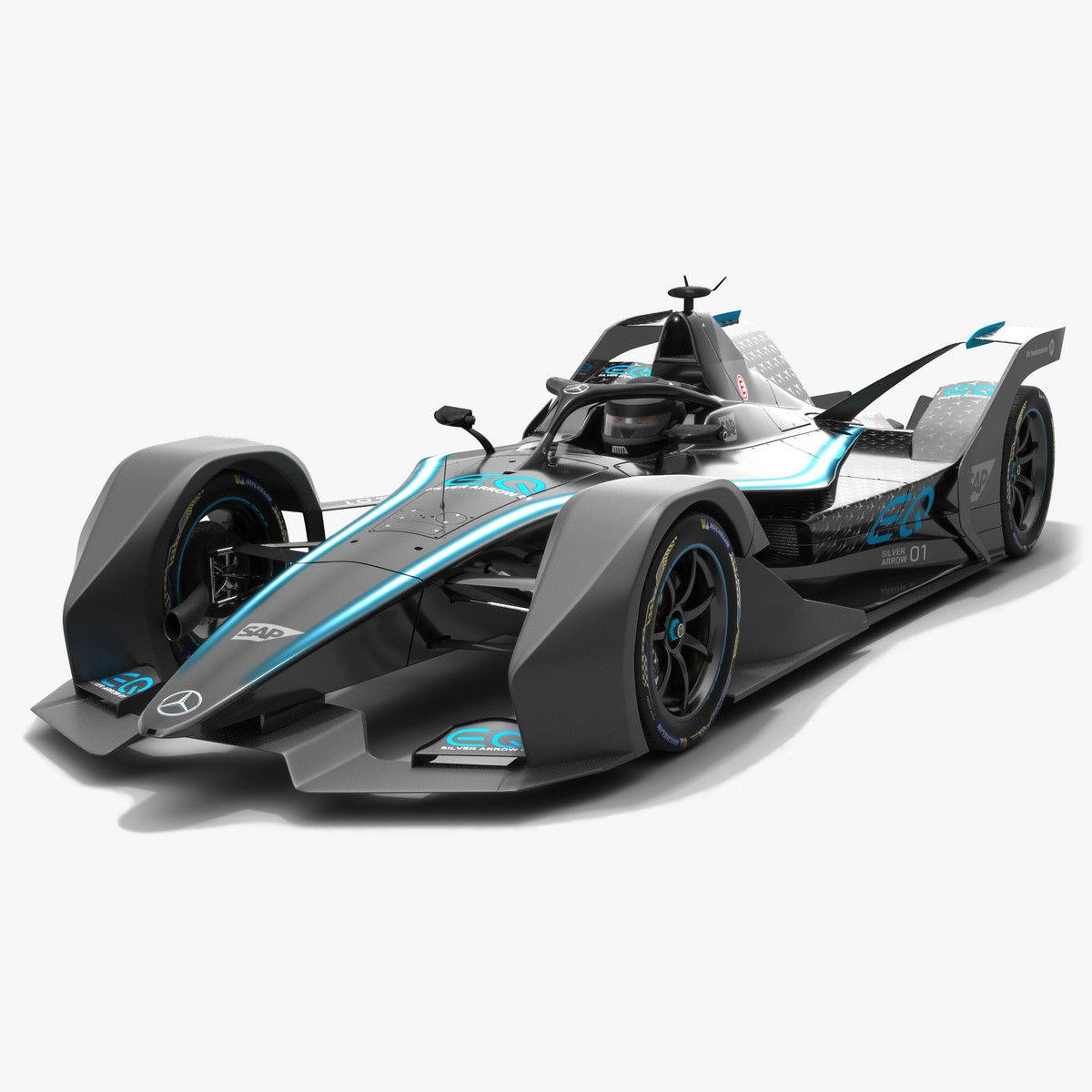 Mercedes Formula E Season 2019 2020 Livery 3D Model
