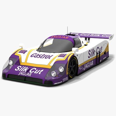 WEC Le Mans Classic Cars Low-poly PBR 3D model