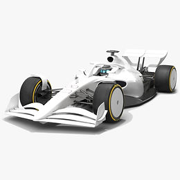 Formula 1 Season 2021 F1 White Low-poly PBR 3D model