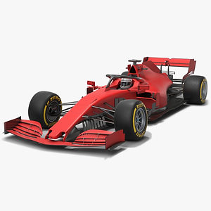 Formula 1 Red Car F1 Season 2020 Low-poly PBR 3D model