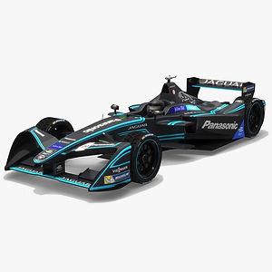 Panasonic Jaguar Racing Formula E Season 2017 2018 3D model
