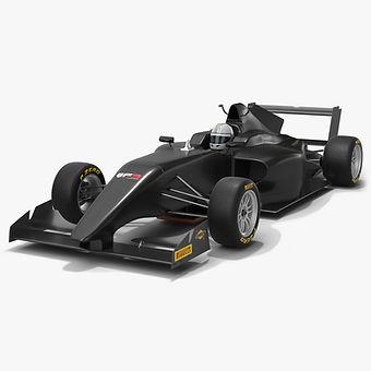 Tatuus BF3-020 BRDC British F3 Car Season 2020 Low-poly PBR 3D model